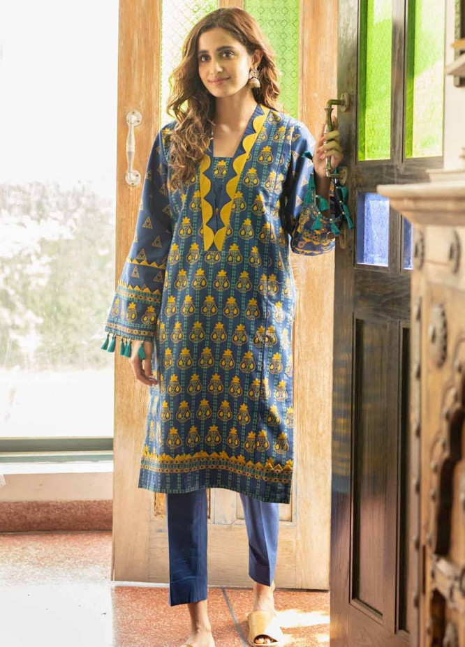 Rang Angan By Gul Ahmed Printed Lawn Suits Unstitched 2 Piece GA21RA TL-326 B - Summer Collection
