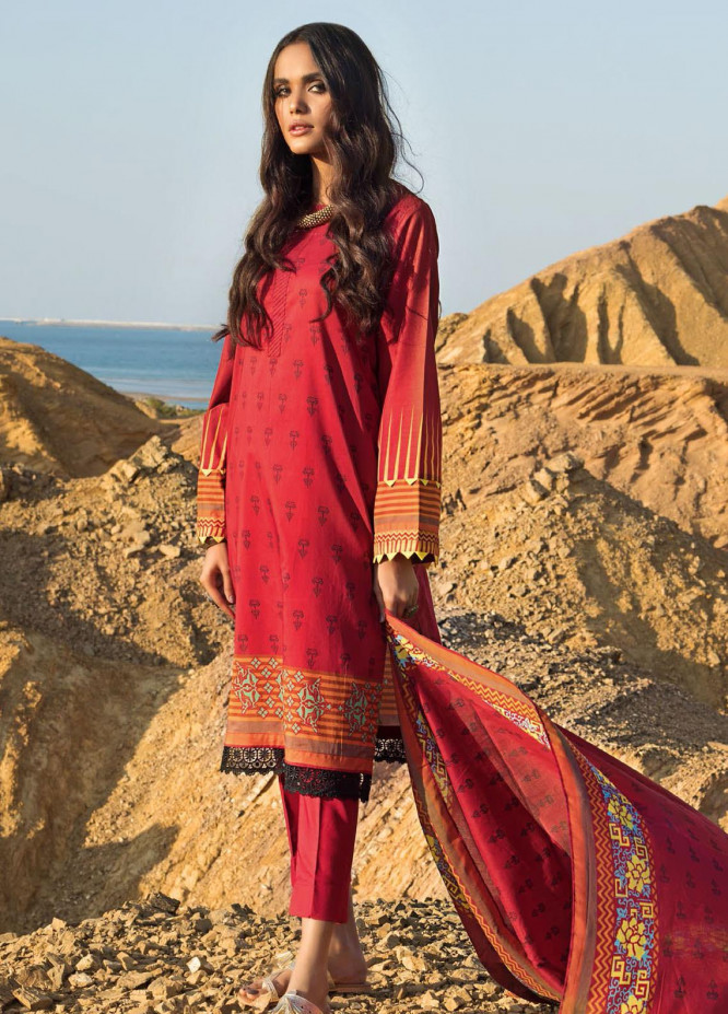 Roselene by Gul Ahmed Printed Lawn Unstitched 3 Piece Suit GA21R CL-1125 - Summer Collection