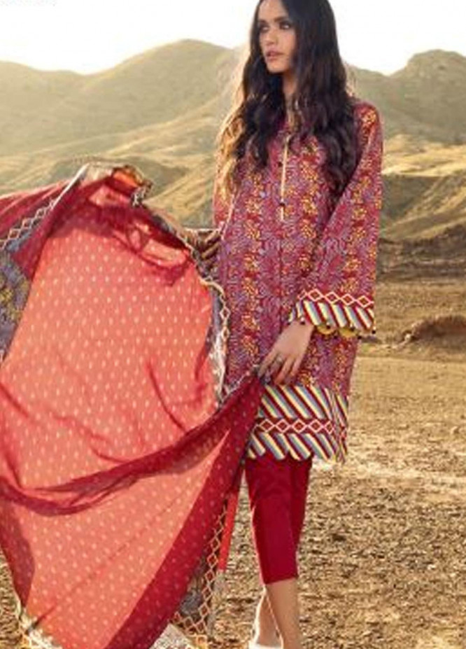 Roselene by Gul Ahmed Printed Lawn Unstitched 3 Piece Suit GA21R CL-1126 - Summer Collection