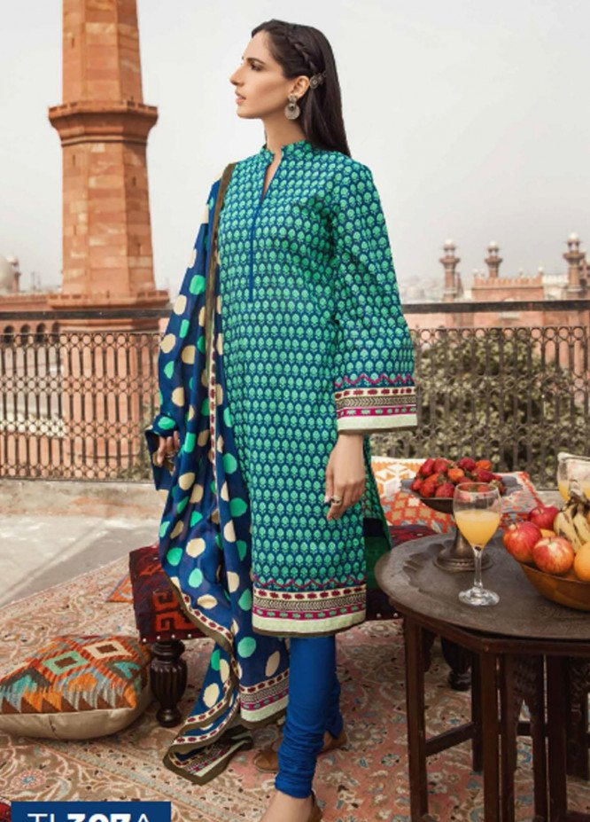 Gul Ahmed Embroidered Lawn Suits Unstitched 2 Piece GA21LL TL307A - Summer Collection