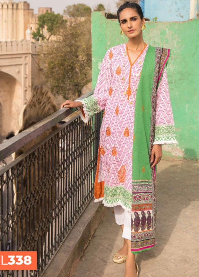 Gul Ahmed Embroidered Lawn Suits Unstitched 2 Piece GA21LL TL338 - Summer Collection
