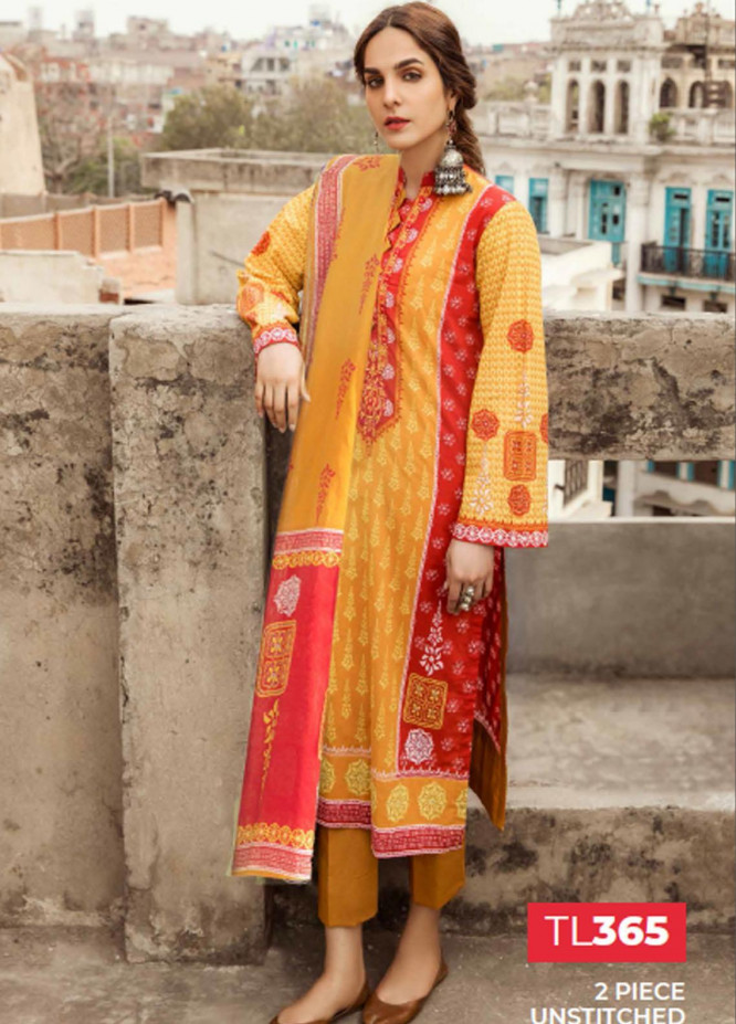 Gul Ahmed Embroidered Lawn Suits Unstitched 2 Piece GA21LL TL365 - Summer Collection
