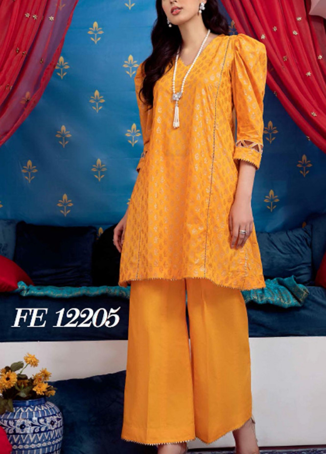 Sunehri By Gul Ahmed Embroidered Lawn Suits Unstitched 2 Piece GA21SL FE-12205 - Summer Collection