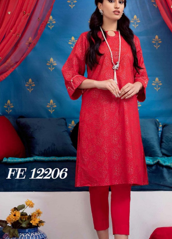 Sunehri By Gul Ahmed Embroidered Lawn Suits Unstitched 2 Piece GA21SL FE-12206 - Summer Collection