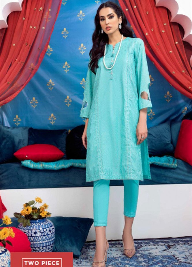 Sunehri By Gul Ahmed Embroidered Lawn Suits Unstitched 2 Piece GA21SL FE-12207 - Summer Collection
