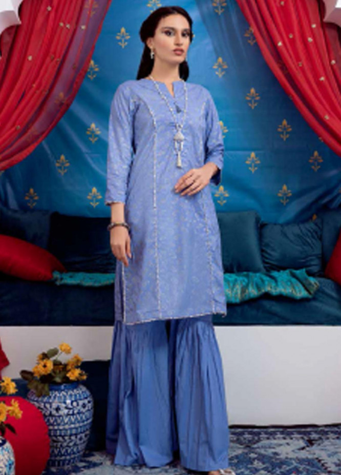 Sunehri By Gul Ahmed Embroidered Lawn Suits Unstitched 2 Piece GA21SL FE-12208 - Summer Collection