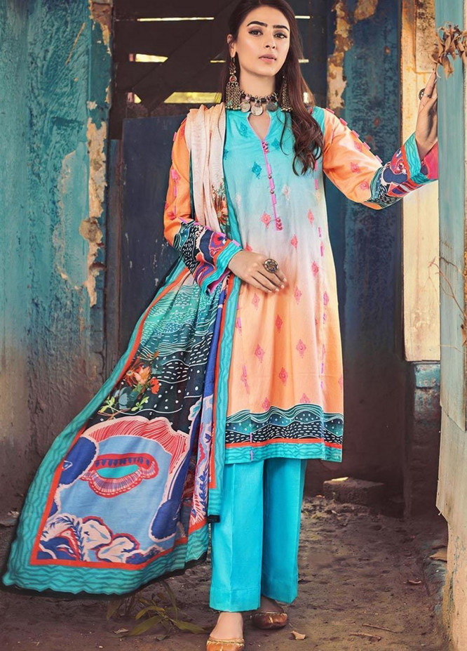 The Colours of Winter by Gul Ahmed Printed Corduroy Unstitched 3 Piece Suit GA20CW CD-47 - Winter Collection