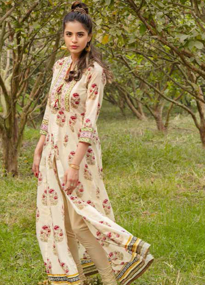 Gul Ahmed Printed Lawn  Unstitched Kurties GA21VG SL 890-A - Summer Collection