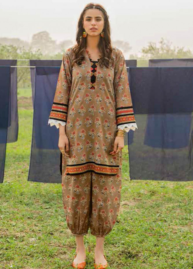 Gul Ahmed Printed Lawn  Unstitched Kurties GA21VG SL 892-A - Summer Collection