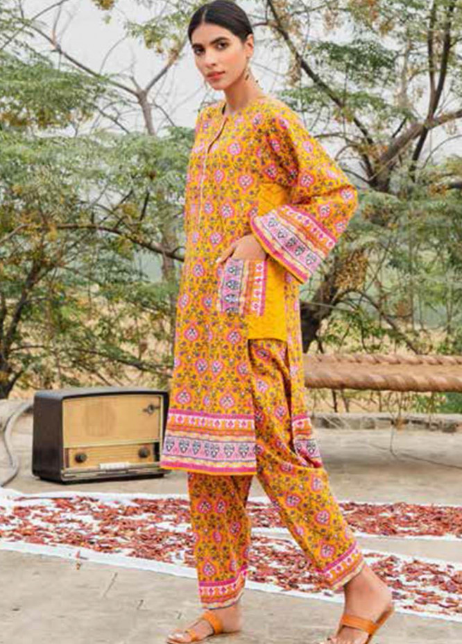 Gul Ahmed Printed Lawn  Unstitched Kurties GA21VG SL 893-B - Summer Collection