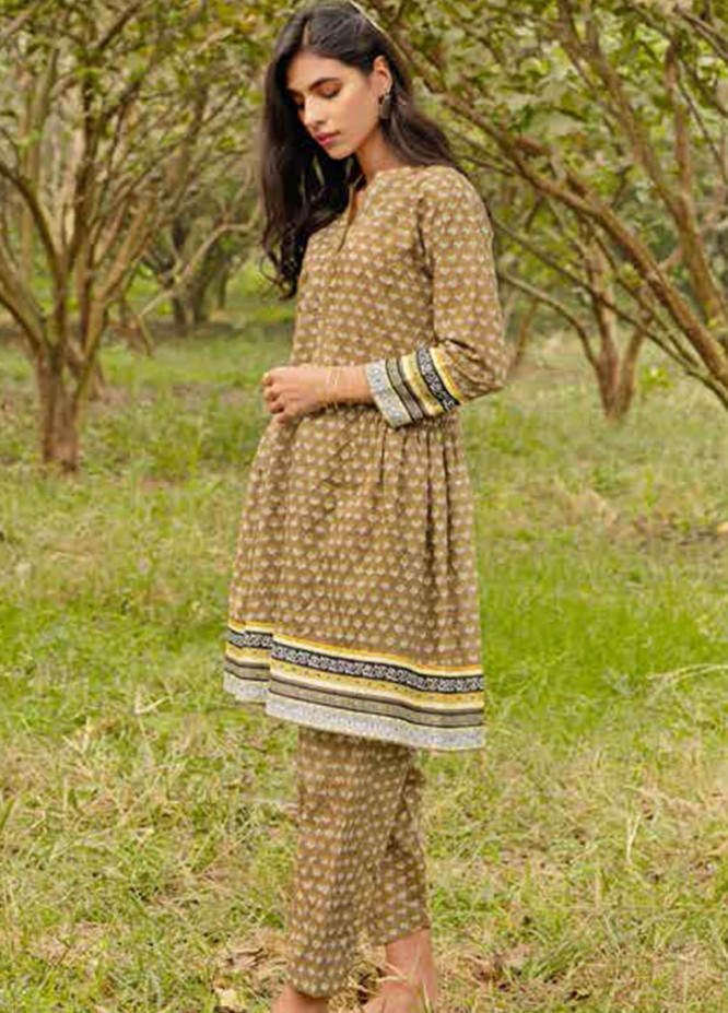 Gul Ahmed Printed Lawn  Unstitched Kurties GA21VG SL 896-A - Summer Collection