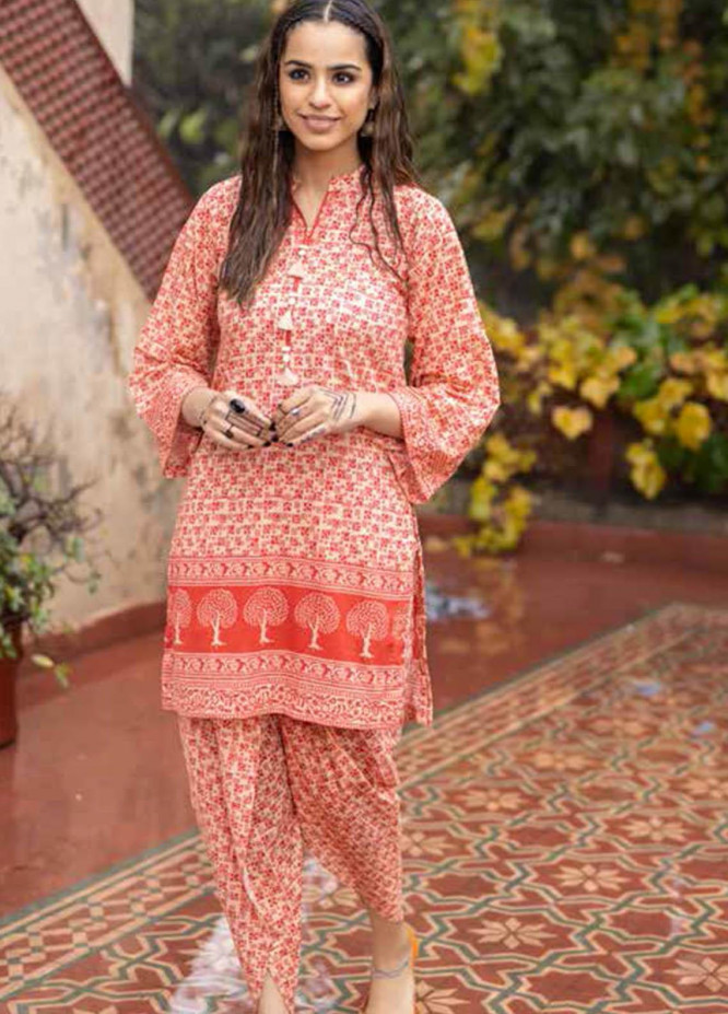 Gul Ahmed Printed Lawn  Unstitched Kurties GA21VG SL 949-A - Summer Collection