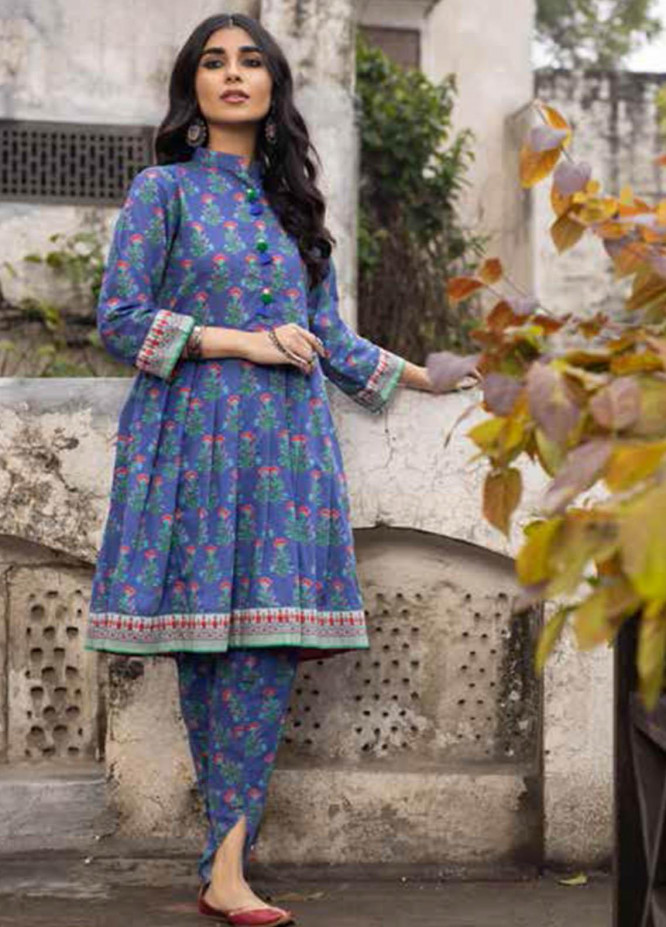 Gul Ahmed Printed Lawn  Unstitched Kurties GA21VG SL 950-A - Summer Collection