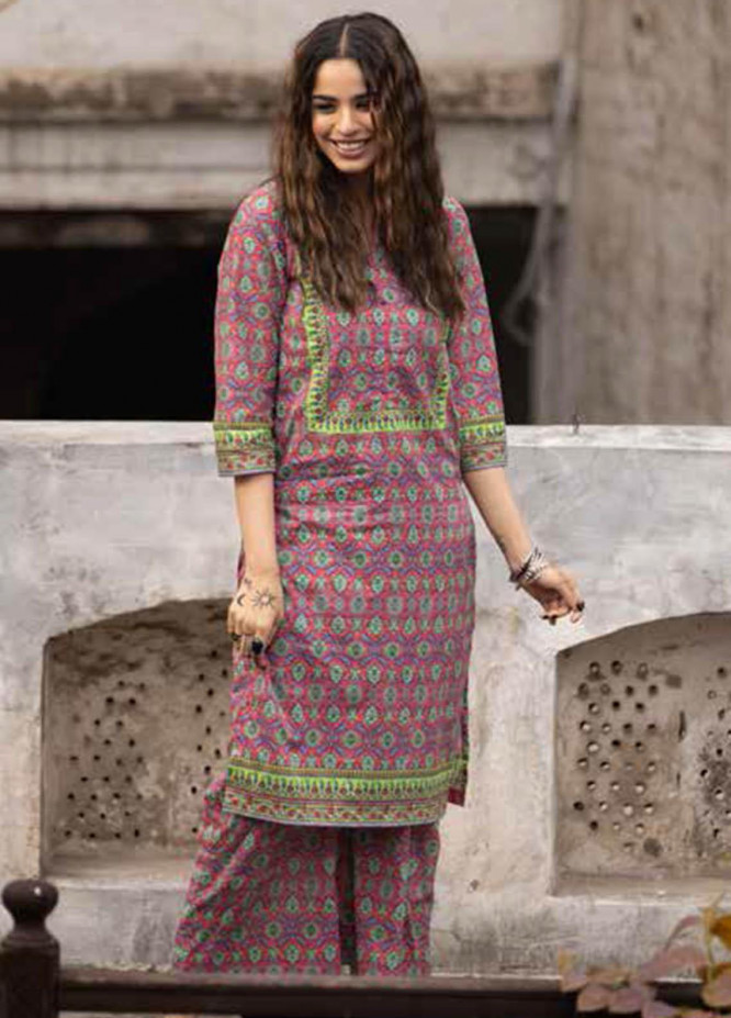 Gul Ahmed Printed Lawn  Unstitched Kurties GA21VG SL 953-B - Summer Collection