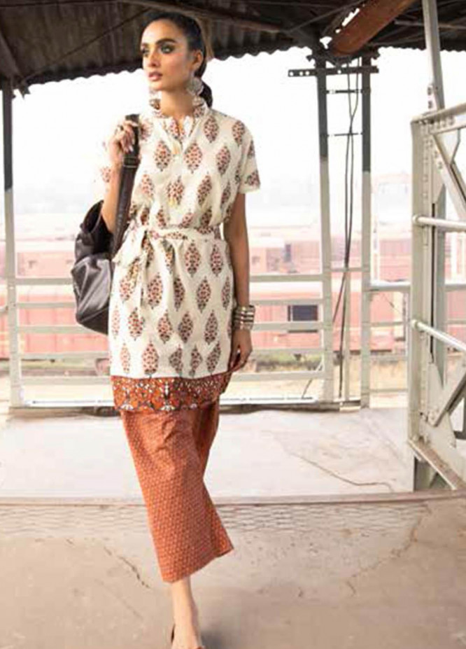 Gul Ahmed Printed Lawn Suits Unstitched 2 Piece GA21VG TL 347-A - Summer Collection