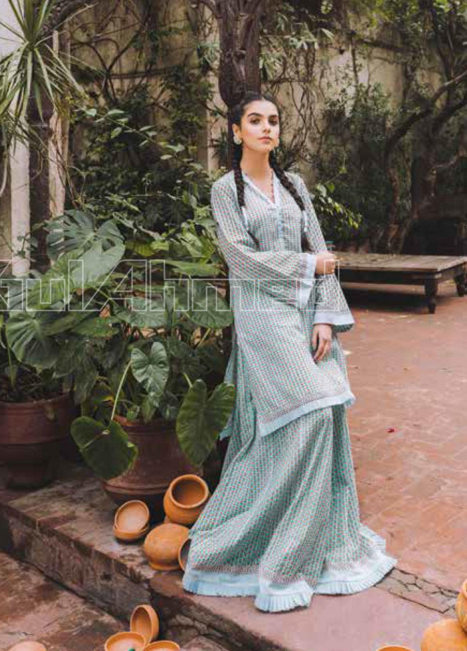 Gul Ahmed Printed Lawn Unstitched Kurties GL20VG SL-815 - Spring / Summer Collection