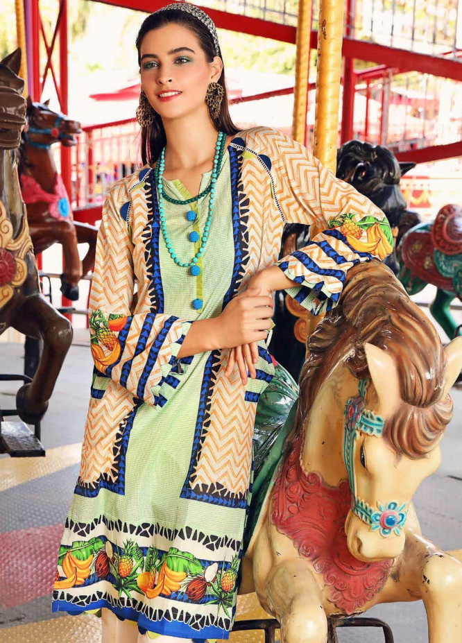 Gul Ahmed Printed Lawn Unstitched 2 Piece Suit GA20Y TL-286 - Spring / Summer Collection