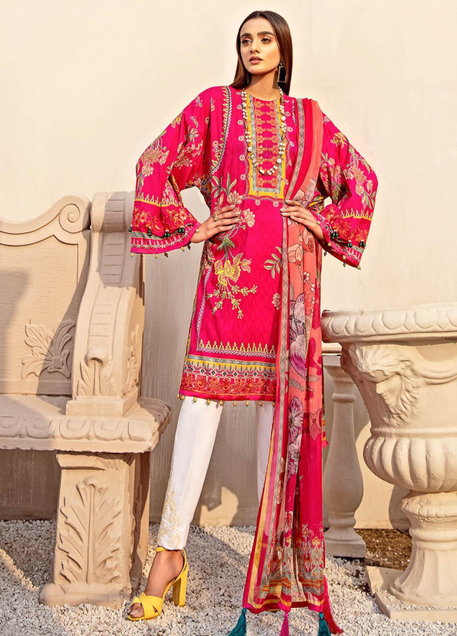 Gulaal Embroidered Lawn Suits Unstitched 3 Piece GL21L GL-02 Gulbahaar - Summer Collection