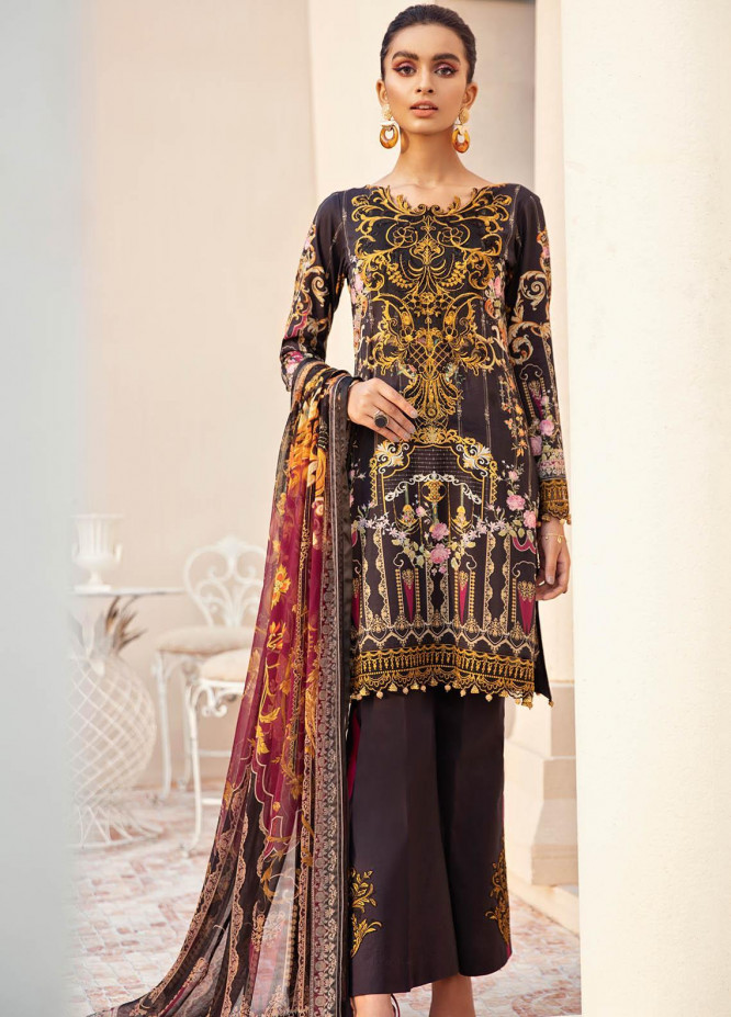 Gulaal Embroidered Lawn Suits Unstitched 3 Piece GL21L GL-04 Ishtar - Summer Collection
