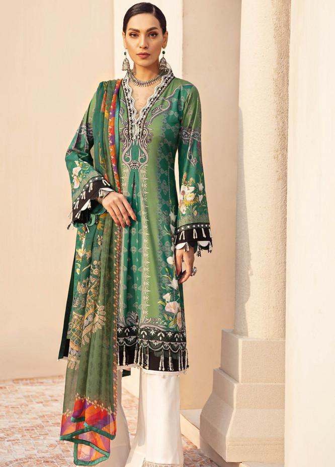 Gulaal Embroidered Lawn Suits Unstitched 3 Piece GL21L GL-07 Amani - Summer Collection