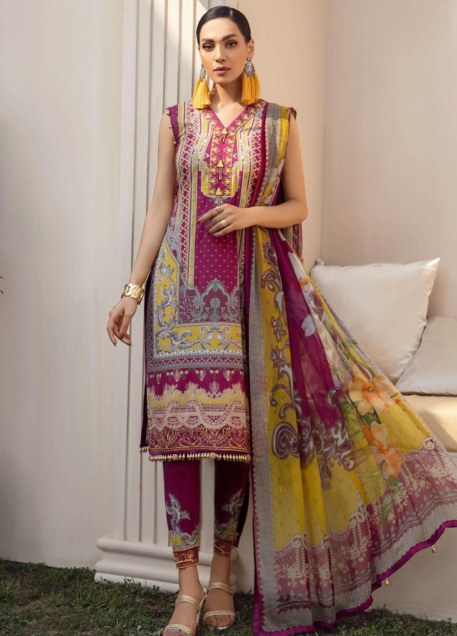 Gulaal Embroidered Lawn Suits Unstitched 3 Piece GL21L GL-09 Naurang - Summer Collection