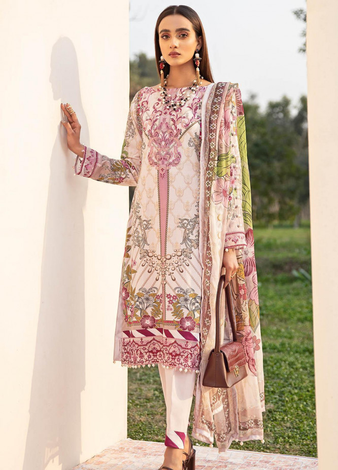 Gulaal Embroidered Lawn Suits Unstitched 3 Piece GL21L GL-10 Azaleah - Summer Collection