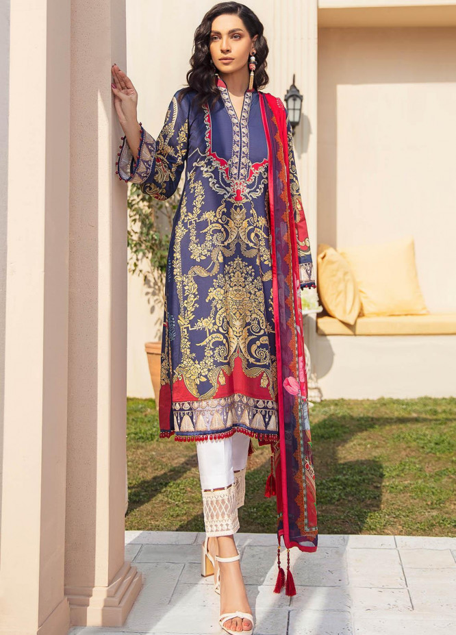 Gulaal Embroidered Lawn Suits Unstitched 3 Piece GL21L GL-11 Aashna - Summer Collection