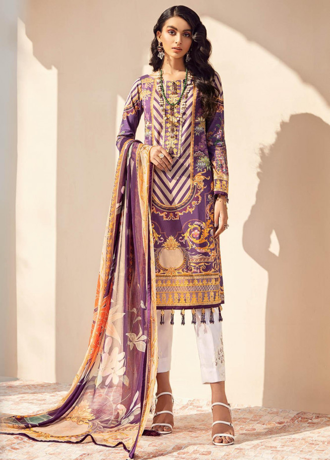 Gulaal Embroidered Lawn Suits Unstitched 3 Piece GL21L GL-12 Falak - Summer Collection