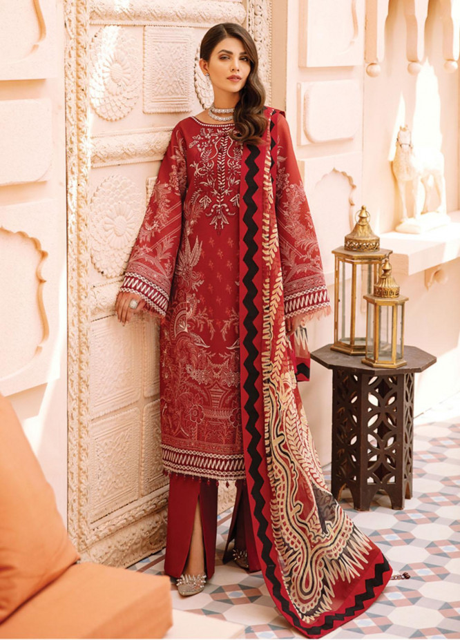 Gulaal Embroidered Lawn Suits Unstitched 3 Piece GL21-L2 03 Inaraa - Summer Collection