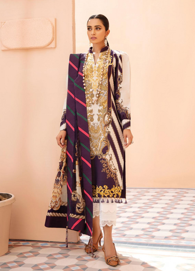Gulaal Embroidered Lawn Suits Unstitched 3 Piece GL21-L2 04 Meira - Summer Collection
