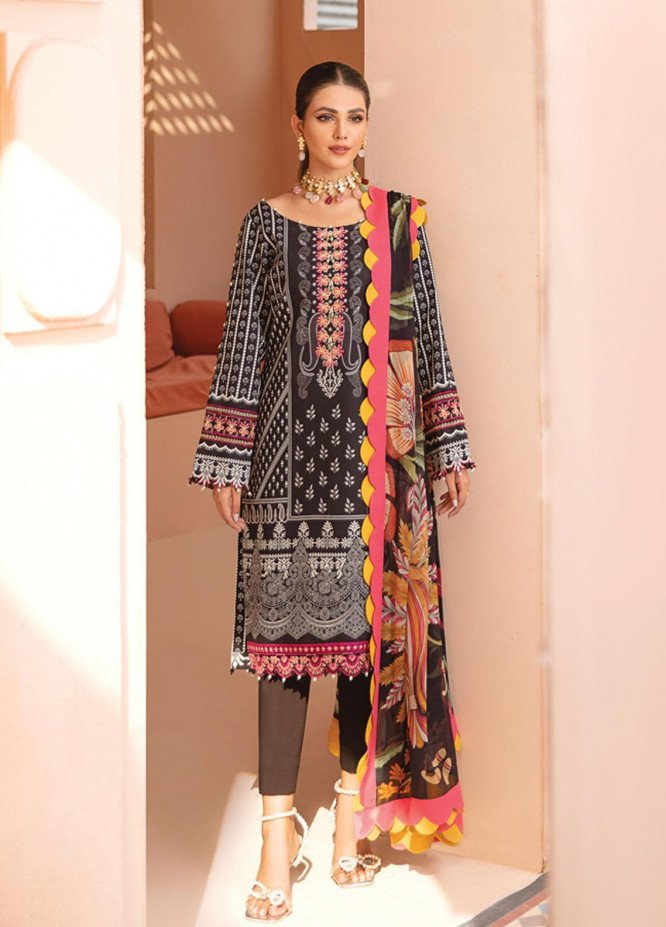Gulaal Embroidered Lawn Suits Unstitched 3 Piece GL21-L2 05 Zemira - Summer Collection