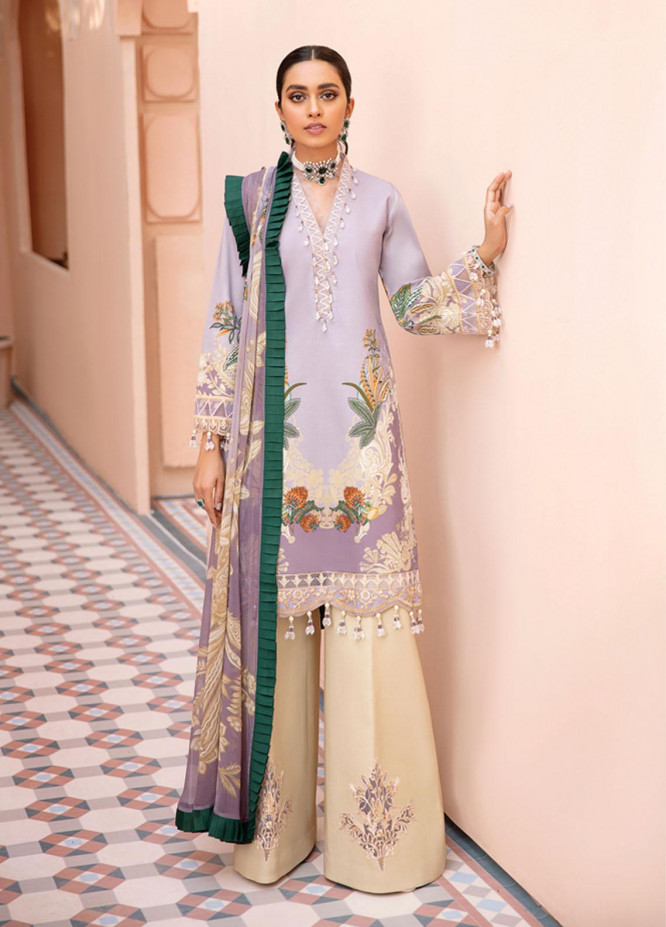 Gulaal Embroidered Lawn Suits Unstitched 3 Piece GL21-L2 06 Sanag - Summer Collection