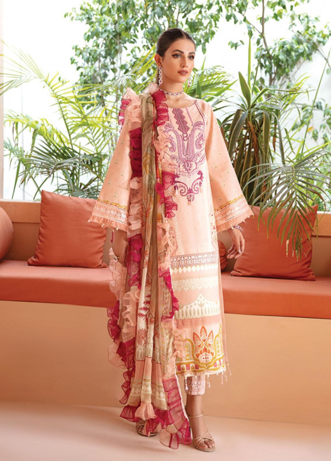 Gulaal Embroidered Lawn Suits Unstitched 3 Piece GL21-L2 07 Amara - Summer Collection