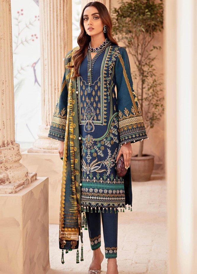 Gulaal Embroidered Lawn Suits Unstitched 3 Piece GL21LL 01 Mishaal - Luxury Collection
