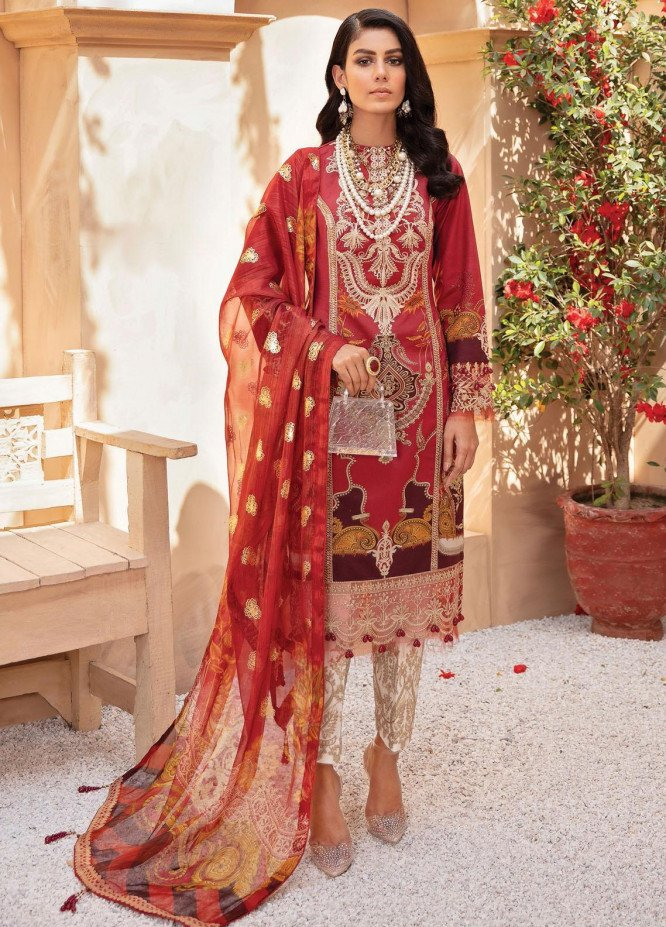 Gulaal Embroidered Lawn Suits Unstitched 3 Piece GL21LL 02 Aarzoo - Luxury Collection
