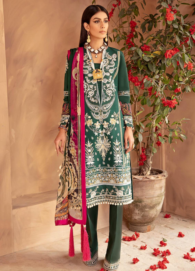 Gulaal Embroidered Lawn Suits Unstitched 3 Piece GL21LL 04 Wafa - Luxury Collection