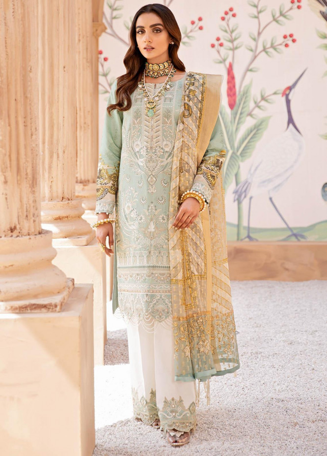 Gulaal Embroidered Lawn Suits Unstitched 3 Piece GL21LL 05 Afsana - Luxury Collection