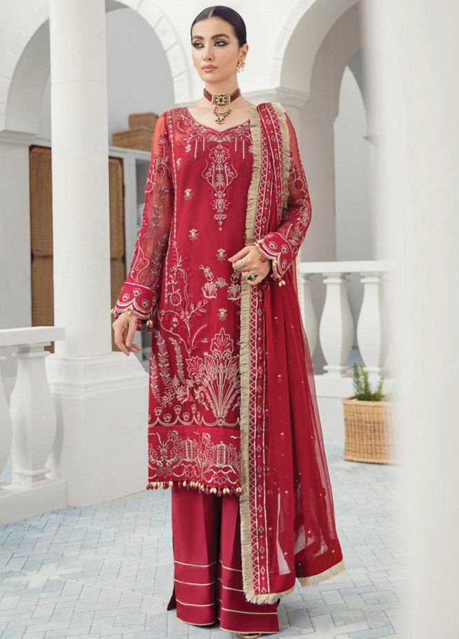 Gulaal Embroidered Chiffon Suits Unstitched 3 Piece GL21C 06 Nazanin - Premium Collection