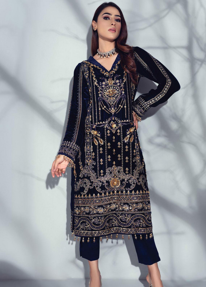 Sahiba by Gulaal Embroidered Velvet Unstitched 2 Piece Suit GL20V 03 Etoile - Wedding Collection