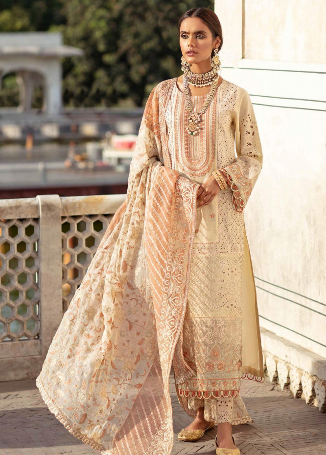 Gulabi Shaam By Nureh Embroidered Lawn Suits Unstitched 3 Piece NU21GS 10 - Eid Collection