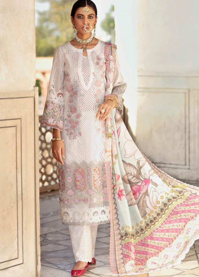 Gulabi Shaam By Nureh Embroidered Lawn Suits Unstitched 3 Piece NU21GS 12 - Eid Collection