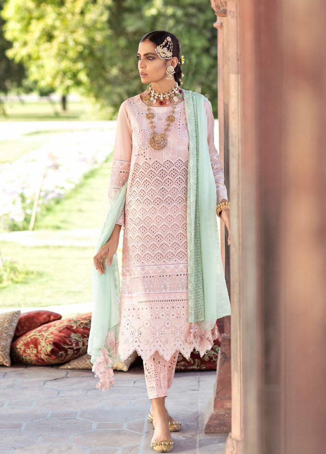 Gulabi Shaam By Nureh Embroidered Lawn Suits Unstitched 3 Piece NU21GS 14 - Eid Collection
