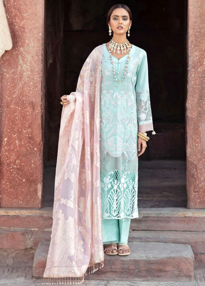 Gulabi Shaam By Nureh Embroidered Lawn Suits Unstitched 3 Piece NU21GS 15 - Eid Collection
