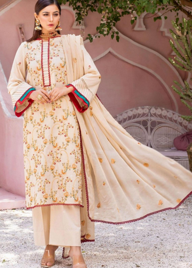 Gulkari By Mohagni Embroidered Lawn Suits Unstitched 3 Piece MO21G ME-21-09 - Summer Collection