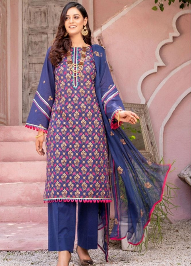 Gulkari By Mohagni Embroidered Lawn Suits Unstitched 3 Piece MO21G ME-21-16 - Summer Collection