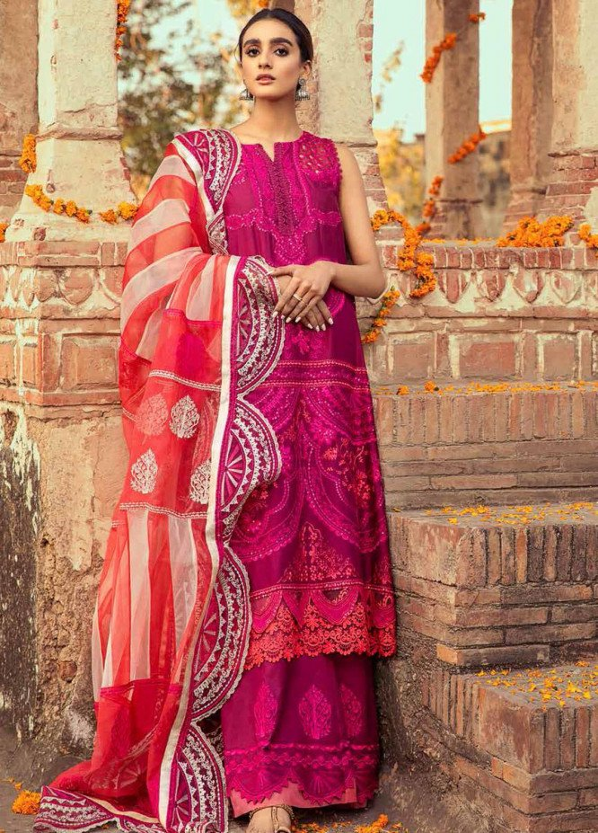 Gulzar By Charizma Embroidered Lawn Suits Unstitched 3 Piece CRZ21G 02 Plum Perfection - Summer Collection