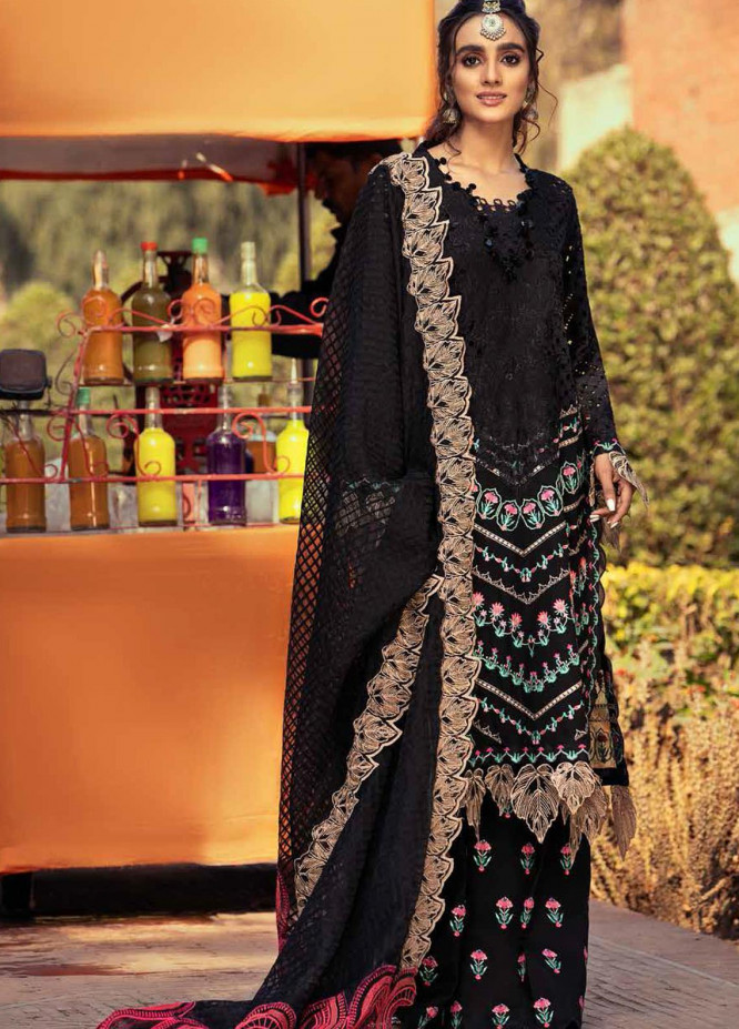 Gulzar By Charizma Embroidered Lawn Suits Unstitched 3 Piece CRZ21G 03 Dark Art - Summer Collection