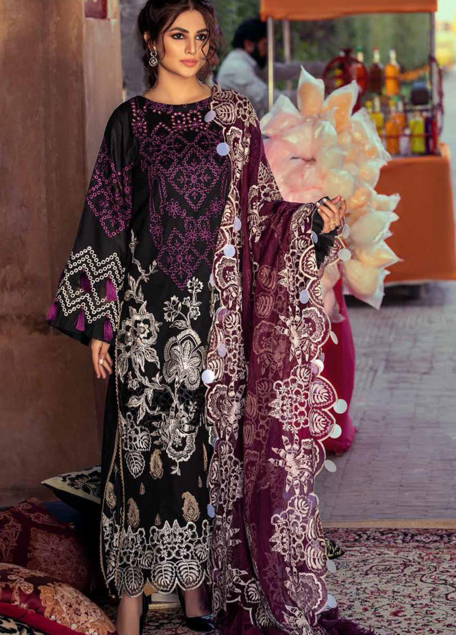 Gulzar By Charizma Embroidered Lawn Suits Unstitched 3 Piece CRZ21G 08 Wisdom Pearle-Ple - Summer Collection