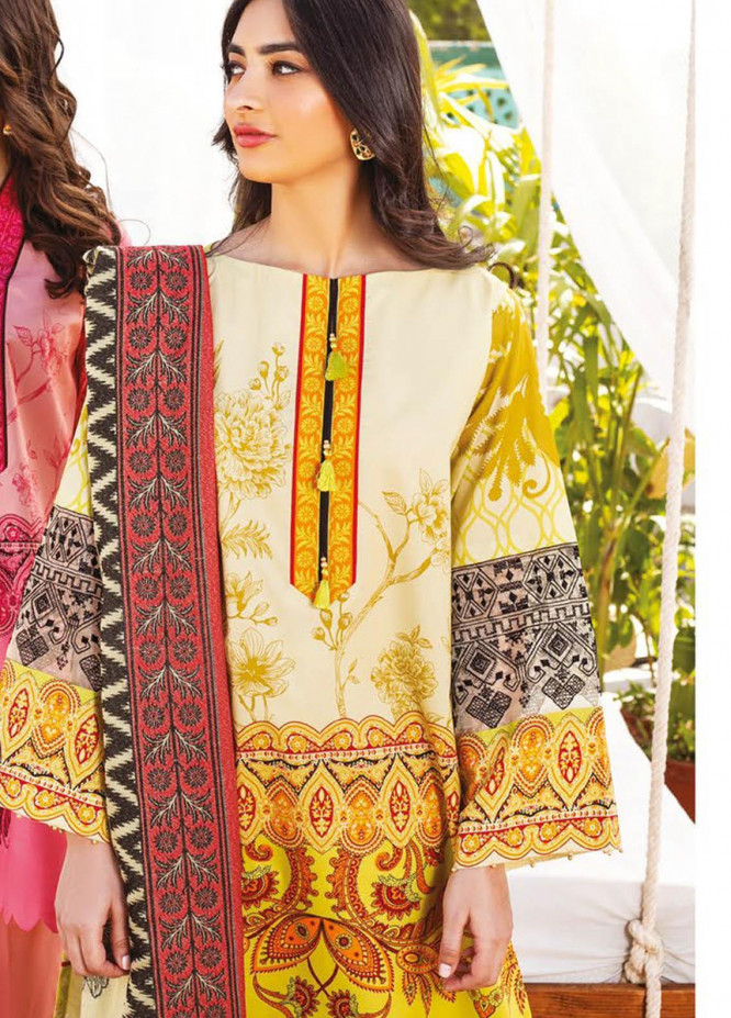 Orient Textile Embroidered Lawn Suits Unstitched 3 Piece OTL-20-142 Green - Summer Collection