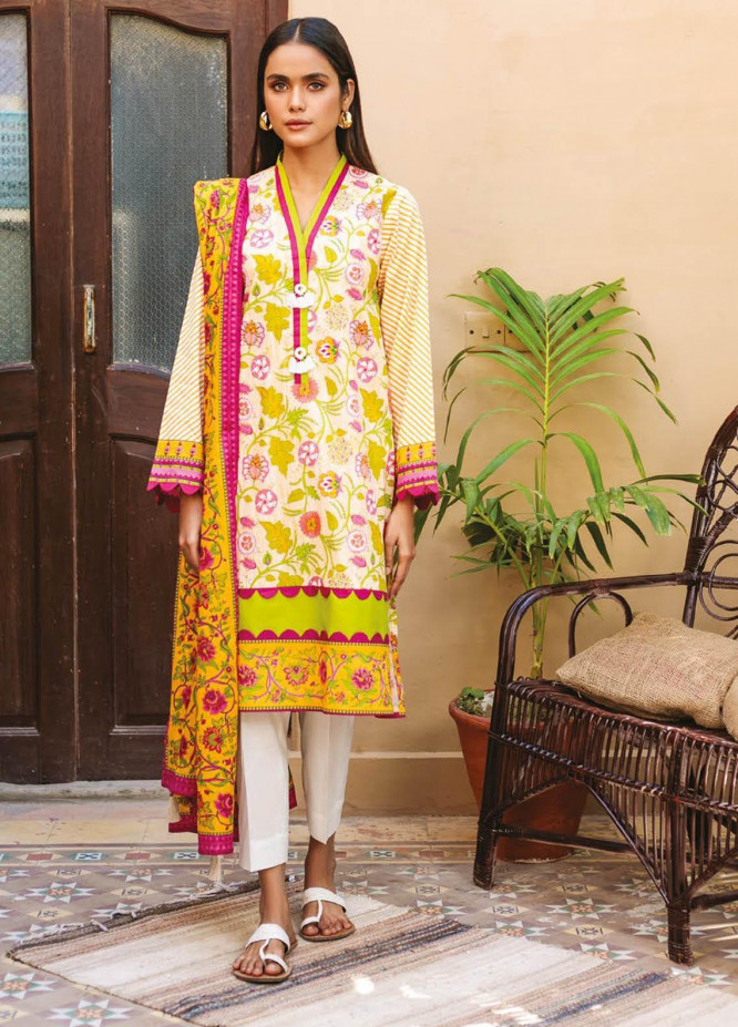 Orient Textile Printed Lawn Suits Unstitched 3 Piece OTL-21-006 Pink - Summer Collection
